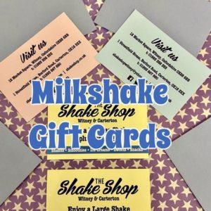 Milkshake gift cards